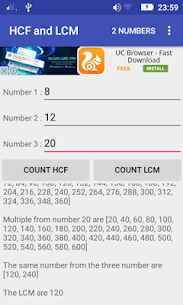 HCF and LCM Calculator For Pc   How To Download Free (Windows And Mac) 2