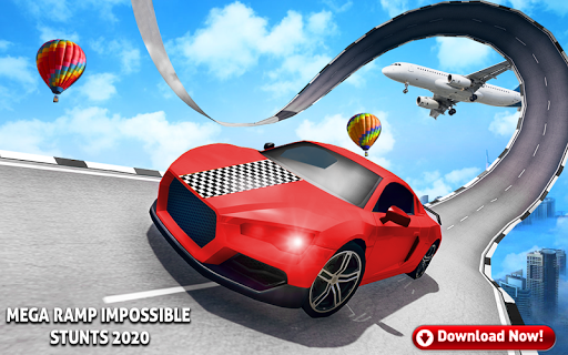 Mega Stunt Car Race Game - Free Games 2020 3.5 screenshots 1