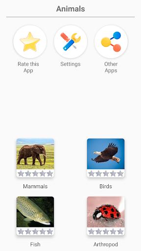 Animals -Quiz about Mammals, Birds, Fish!Zoo quiz.  screenshots 1