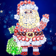 Christmas Diamond Painting : Tap Diamond Coloring