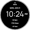 Black Fitness Watch Face