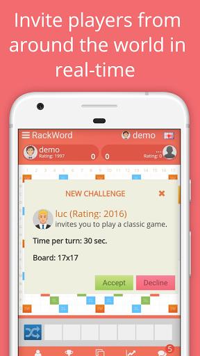 Rackword - Free real-time multiplayer word game screenshots 2