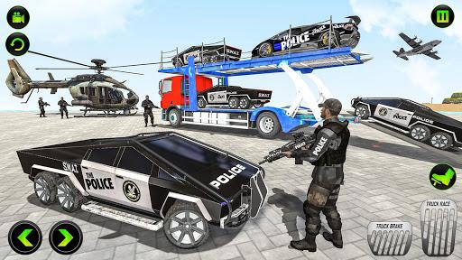 US Police CyberTruck Car Transporter: Cruise Ship 1.1.1 Screenshots 21