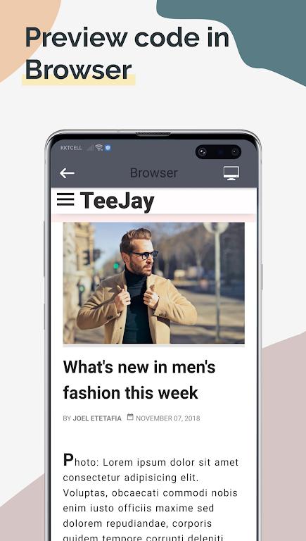 TrebEdit - Mobile HTML Editor  poster 2