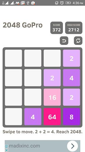 2048 go pro - puzzle game screenshot 1