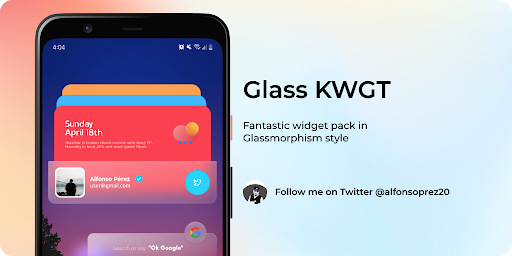 Download APK: Glass for KWGT v1.3 [Paid]