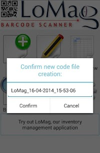 LoMag Barcode Scanner to Excel – free inventory QR 3