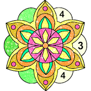 Mandala Glitter Coloring Book Free