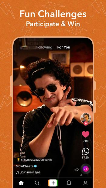 Josh - Snack on Short Videos with Top Indian App screenshot 1