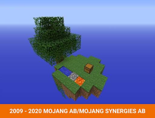 One block survival Minecraft maps. Map for MCPE 5 screenshots 6