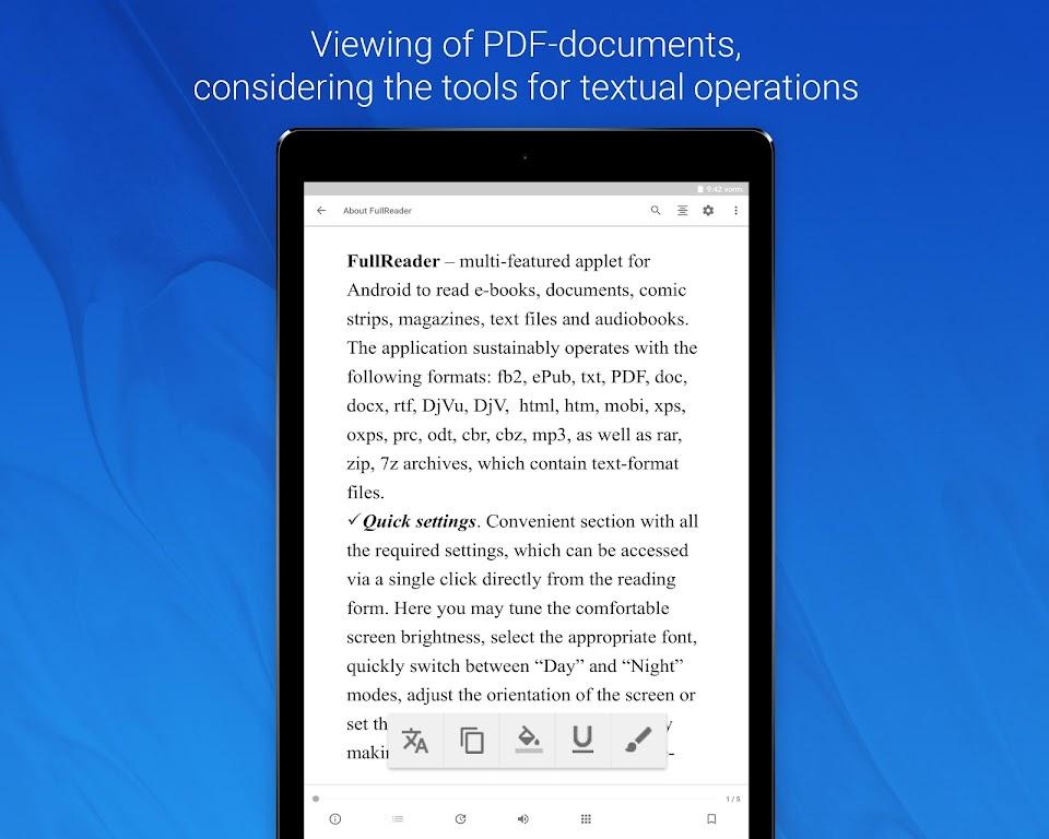 FullReader - all e-book formats reader  poster 12