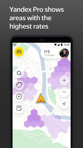 Yandex Pro (Taximeter)u2014Driver job in taxi for ride apktram screenshots 2