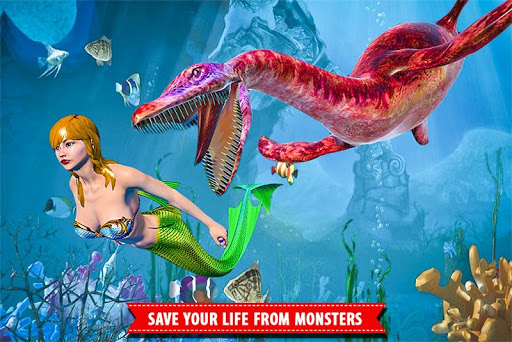 Mermaid Simulator Games: Sea & Beach Adventure android2mod screenshots 2