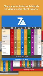 7 Wonders Score Sheet