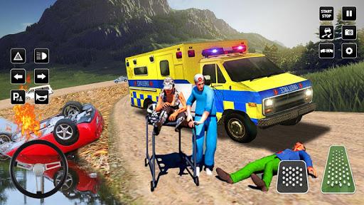 Heli Ambulance Simulator 2020: 3D Flying car games  screenshots 6