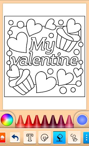 Valentines love coloring book  screenshots 12