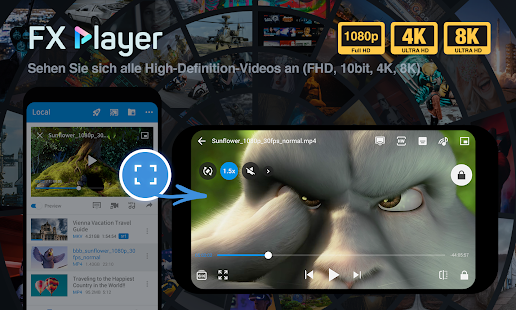 FX Player - videoplayer und stream, chromecast Screenshot