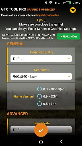 GFX Tool Pro for PU Battlegounds - 60FPS Screenshots 1