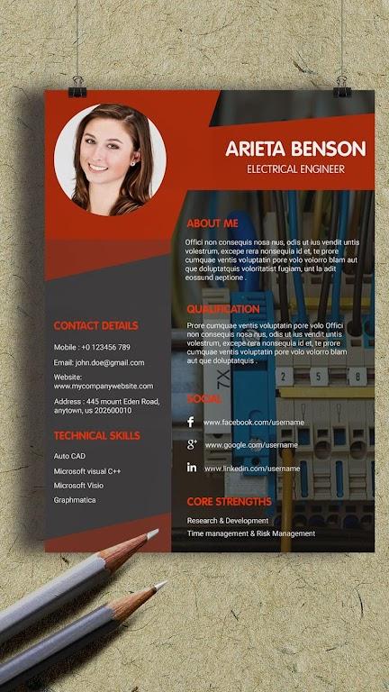 Resume Template, Resume Writer & Cover Letter  poster 1