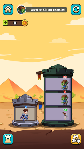 Hero Tower Wars - Math Puzzle  screenshots 7