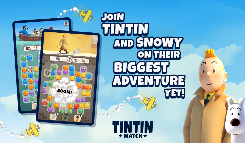 Tintin Match: Solve puzzles & mysteries together! poster 4