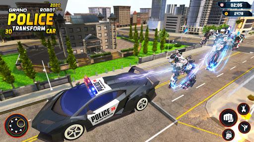 Flying Grand Police Car Transform Robot Games  Screenshots 7