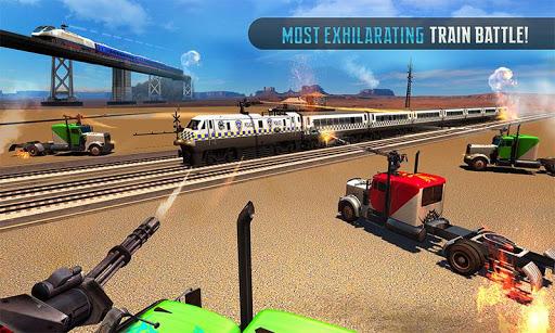 Police Train Shooter Gunship Attack : Train Games  Screenshots 3