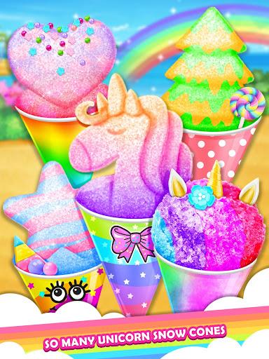 Unicorn Rainbow Snow Cone Desserts Maker screenshots 1
