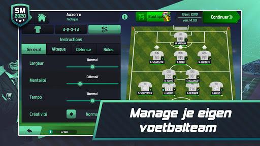 Soccer Manager 2020 - Jeu de Gestion de Football APK MOD – Pièces Illimitées (Astuce) screenshots hack proof 2