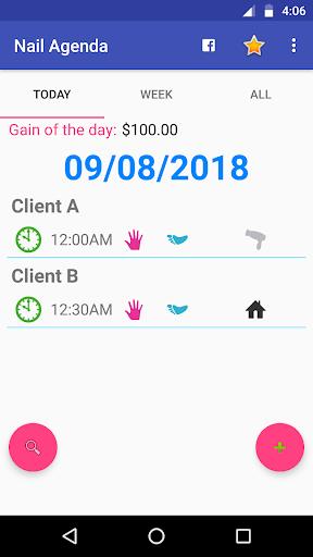 Nail Organizer - Calendar for Manicures 1.9.2 Screenshots 3