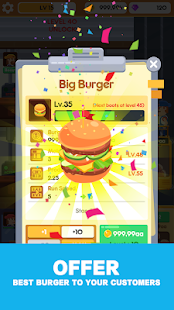 Idle Burger Factory - Tycoon Empire Game Screenshot