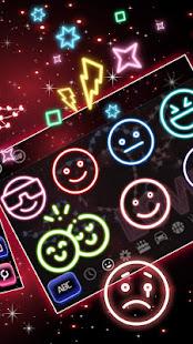Neon Love Heart Keyboard Theme