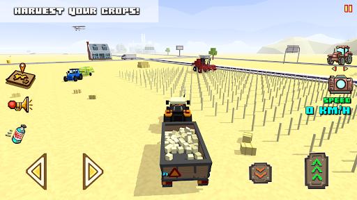 Blocky Farm Racing & Simulator - driving game 1.41 screenshots 4