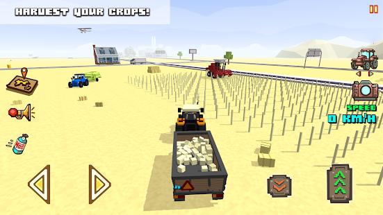 Blocky Farm Racing & Simulator - driving game  screenshots 4