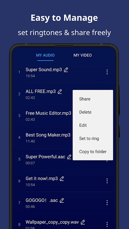 Super Sound - Free Music Editor & MP3 Song Maker poster 5
