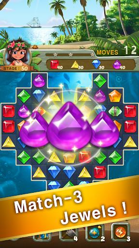 Paradise Jewel: Match 3 Puzzle apktreat screenshots 1