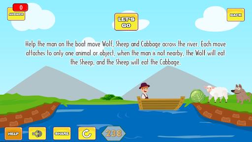 River Puzzle - IQ Test Mind 2.5 screenshots 2
