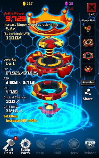 Super God Blade : Spin the Ultimate Top! 1.67.13 Screenshots 2