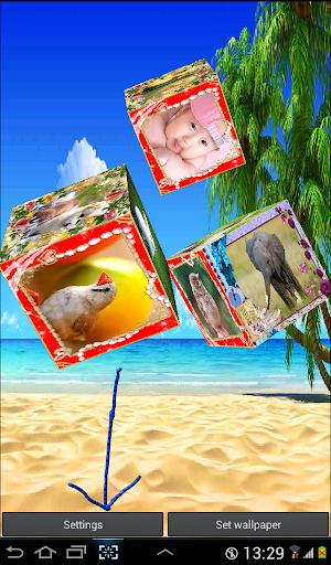 3D Photo Cube Live Wallpaper screenshots 3