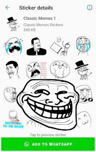Classic Memes Stickers for WhatsApp WAStickerApps Apk Download 2021 1