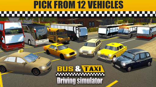 Bus & Taxi Driving Simulator  screenshots 10