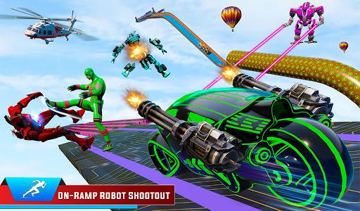 Speed Hero Robot Ramp Bike Transform Robot Games 1.7 screenshots 8