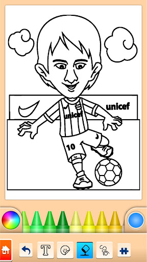 Football coloring book game screenshots 10