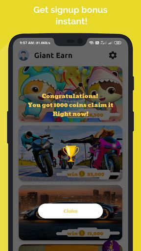Giant Earn - Earn Money Daily 2.0 screenshots 2