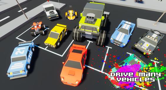 Gangster && Mafia Block City Dude Theft Pixel Car MOD APK 1.09 (Unlimited Money) 3