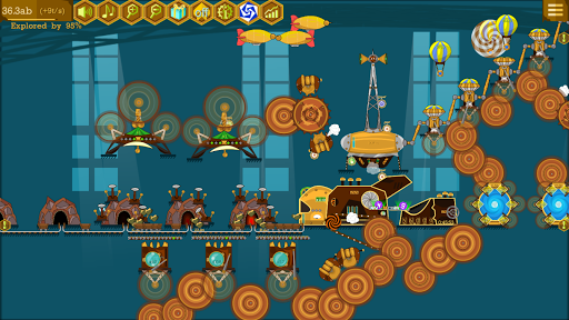 Steampunk Idle Spinner: Coin Machines android2mod screenshots 5