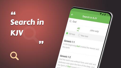 King James Bible (KJV) - Free Bible Verses + Audio android2mod screenshots 12