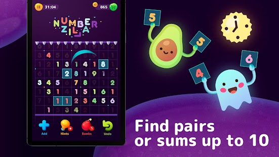 Numberzilla - Number Puzzle | Board Game Screenshot
