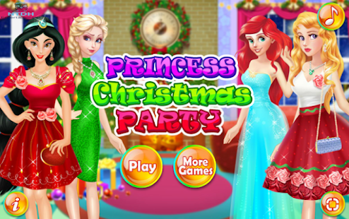 Dress up games for girl - Princess Christmas Party Screenshot