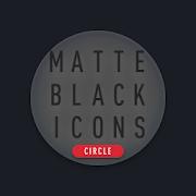 Matte Black CIRCLE Icons